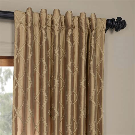Faux Silk Curtains Alexandria Gold Taffeta Faux Silk Curtains Drapes
