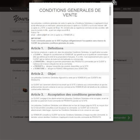 Modele De Condition Generale De Vente Gratuit