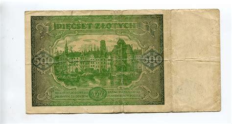 möbeltischler polen 500 zlotych 1946 polen tb ma shops