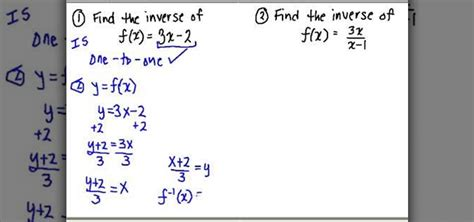 How To Find The How To Find The Inverse Of A Function In Algebra 171 Math