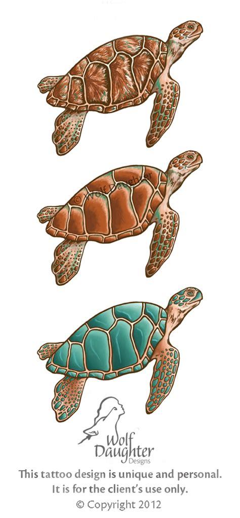 sea turtle tattoo design by wolf daughter on deviantart