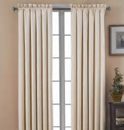 Black Out Curtains Eclipse Curtains Canova Blackout Drapes And Valance Set In Ivory Canova Blackout Drapes And