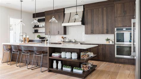 modern kitchen in walnut mdf ateliers jacob calgary