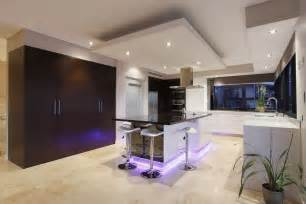 bulkhead designs ceilings kitchen contemporary with purple