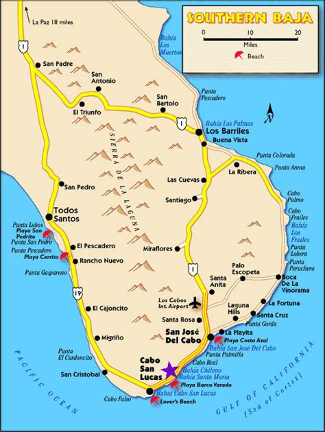 map of united states and cabo san lucas mexico driving directions map for mexico