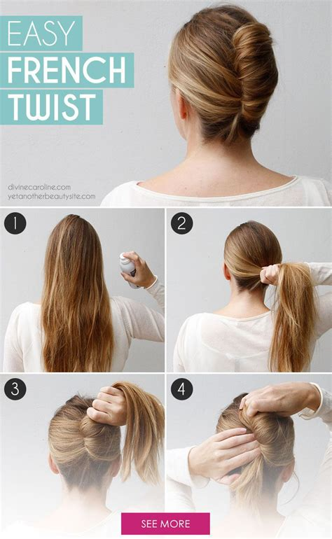 easy sleek updos step by step go classically chic with this easy french twist french