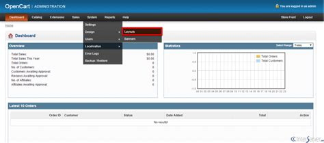 opencart layout manager manage layouts in opencart interserver tips