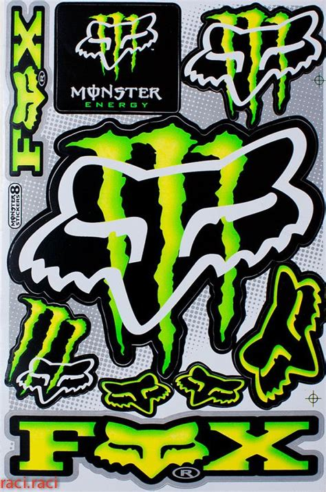 fox motocross stickers 14 best monster energy racing decals images on pinterest