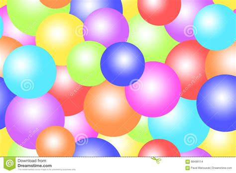 Colorful Bubbles Balls Circles Background Stock Design In Colored Paper L