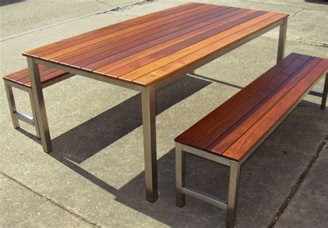 Post And Rail Table Outdoor Furniture Brisbane Agfc Outdoor Timber Dining Table