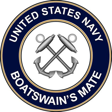 boatswain insignia us navy boatswains mate bm decal