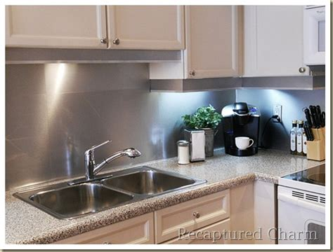 aluminum kitchen backsplash 4 functional diy stainless steel kitchen backsplashes shelterness