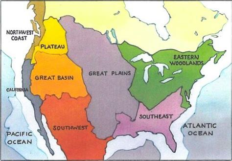 american culture areas map study a map that list the eight cultural regions of
