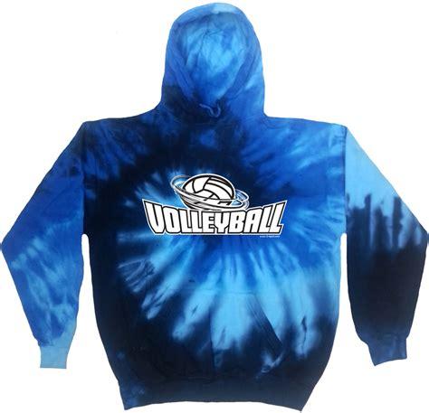 design tie dye hoodie volleyball swirl design tie dye hooded sweatshirts in
