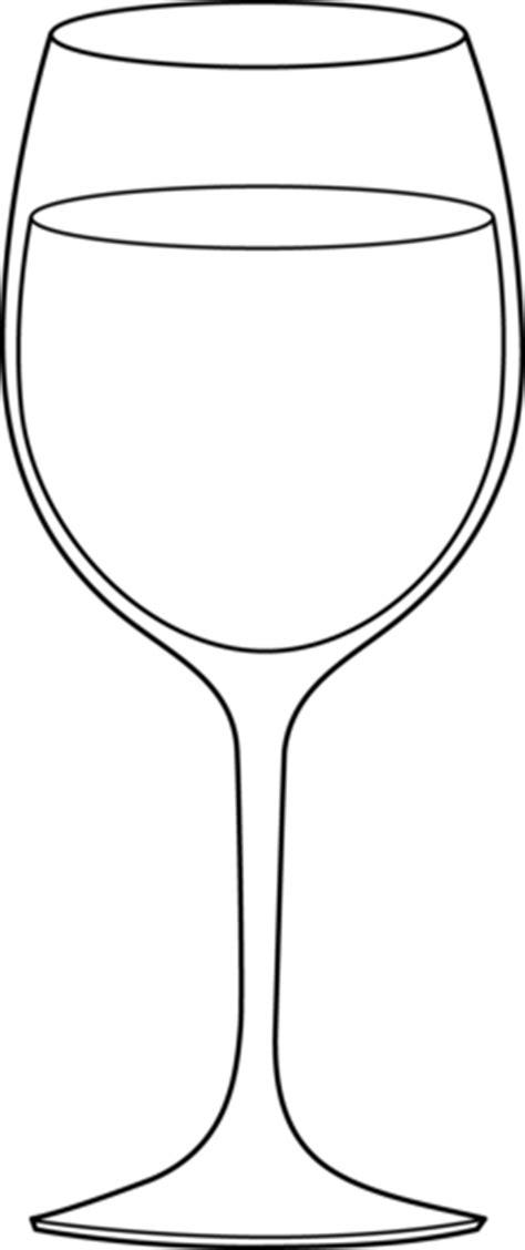 Wine Glass Line Art - Free Clip Art