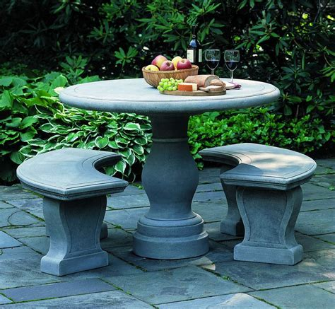 stone bench and table palladio table and benches outdoor stone table with benches