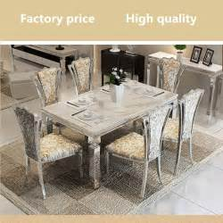 Stainless Steel Dining Room Tables Contemporary Modern Dining Set Stainless Steel Marble Top