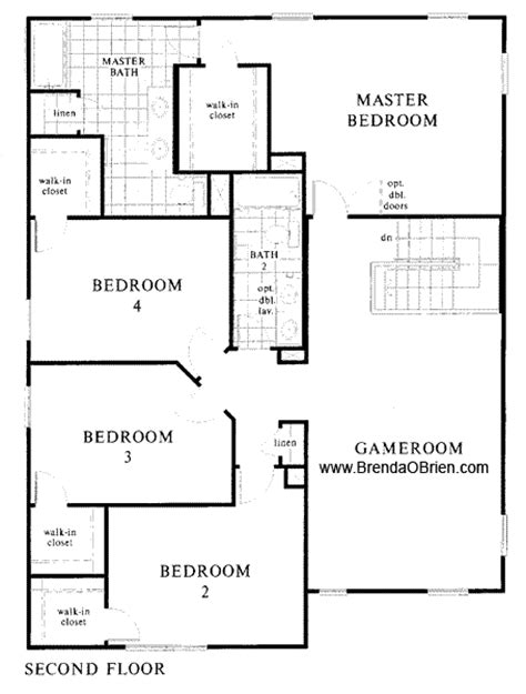 upstairs floor plans st at vistoso 2609 model upstairs