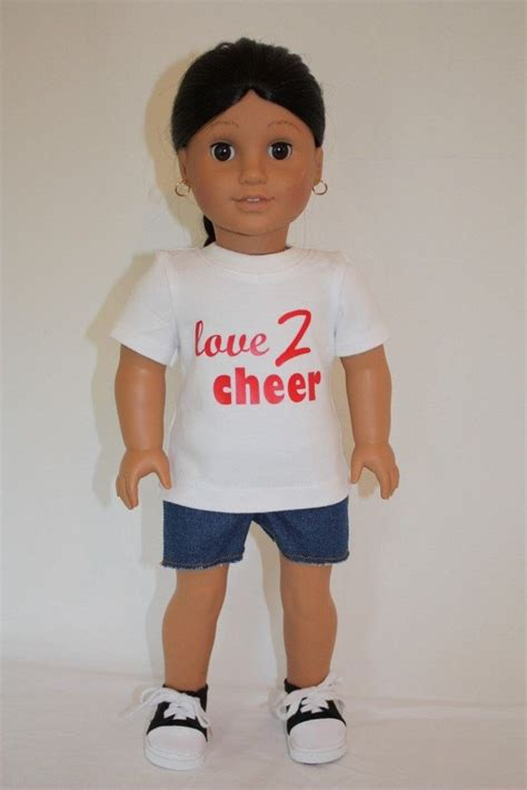 t shirt doll design cheerleader outfit for american girl 18 quot dolls t shirt