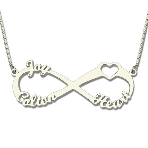 infinity necklace day gifts infinity necklaces 3 names