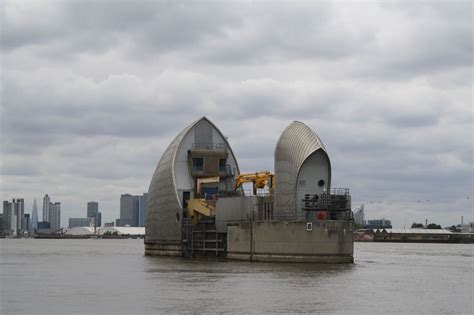 thames barrier nearest tube shadows light thames barrier