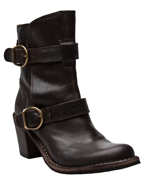 buckle boots fiorentini baker buckle boot in brown lyst
