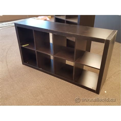 ikea kallax black 8 compartment bookcase shelf allsold