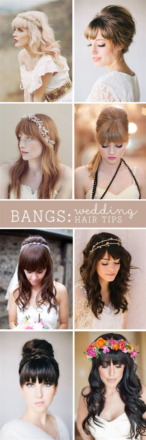 Wedding Hairstyles For Bangs by Must Read Tips For Wedding Hairstyles With Fringe