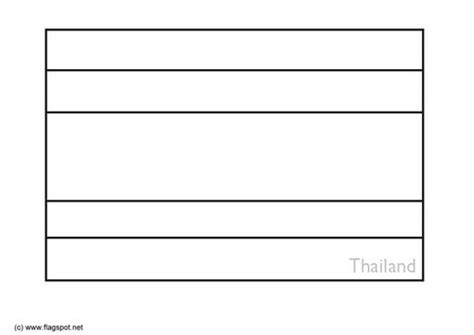 coloring page flag thailand elementary classroom
