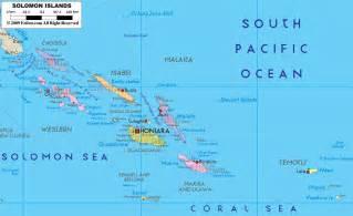 political map of solomon islands ezilon maps