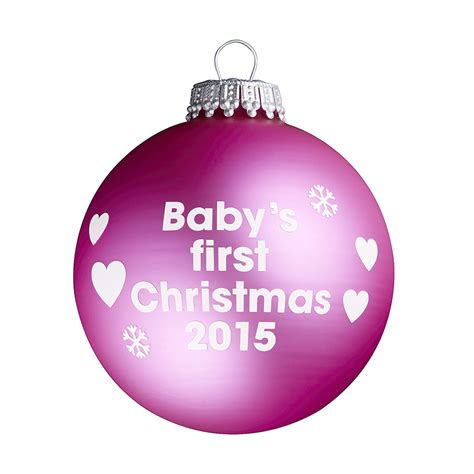 baby s first christmas 2015 pink christmas tree bauble