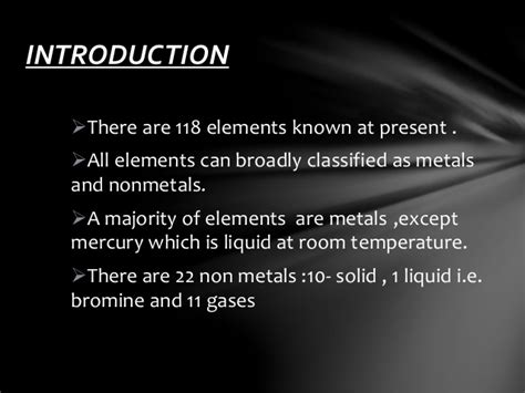 metals that are liquid at room temperature metals non metals