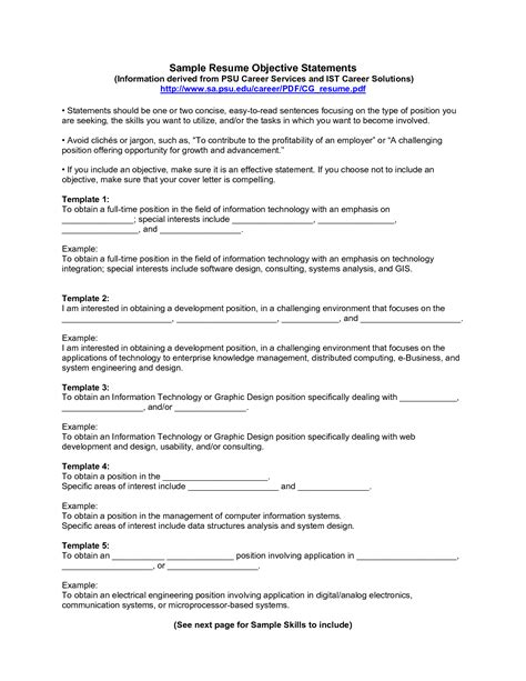 exle of objective in a resume resume objective exles professional objective resumes