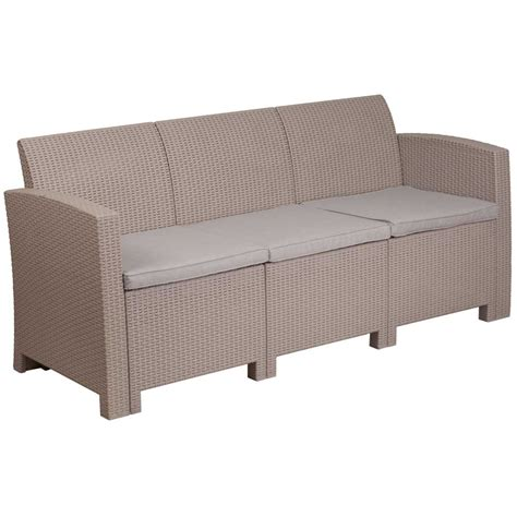 faux rattan outdoor sofa charcoal in outdoor sofas