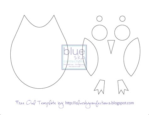 owl template printable blue sky confections frames fabric scraps a few