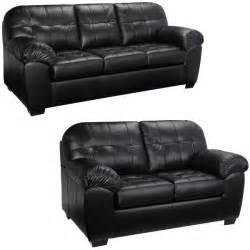 Emma black italian leather sofa and loveseat 15442181 overstock