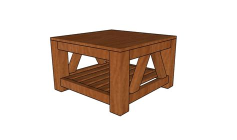 free coffee table plans howtospecialist how to build