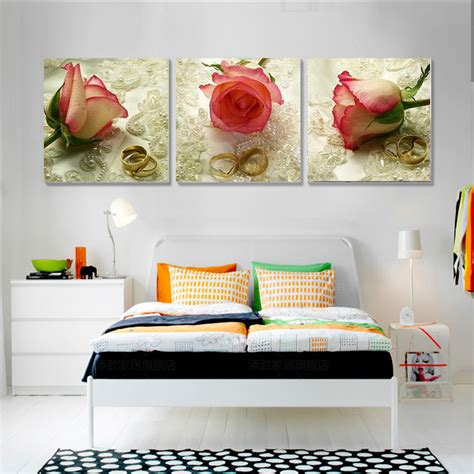bedroom canvas art aliexpress com buy 3 piece canvas art home decor rose
