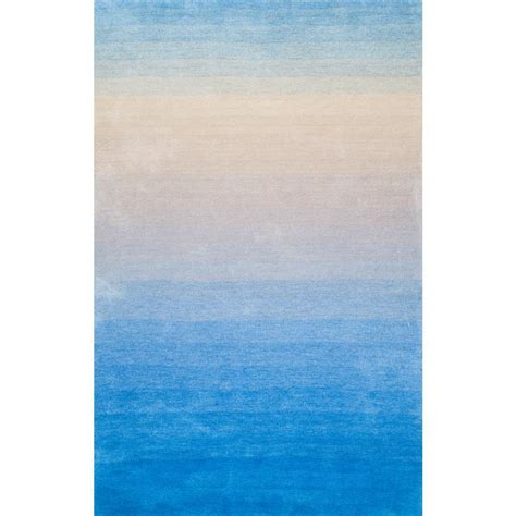 blue ombre rug nuloom ombre shag blue 5 ft x 8 ft area rug hjos01b 508 the home depot