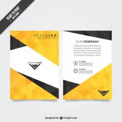 flyer templates flyer template with polygonal pattern vector free