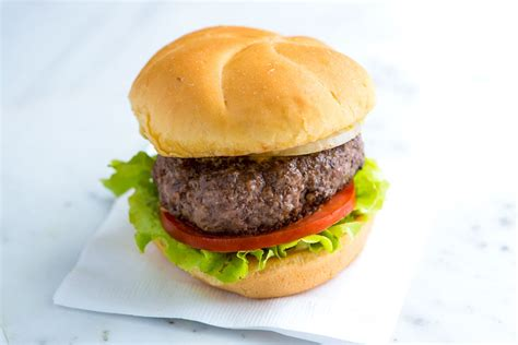 Handmade Burger Recipe - hamburger