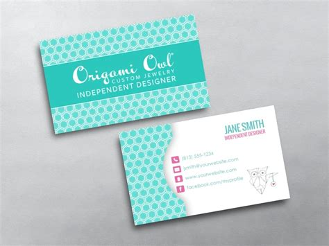 origami card template origami owl business cards free shipping
