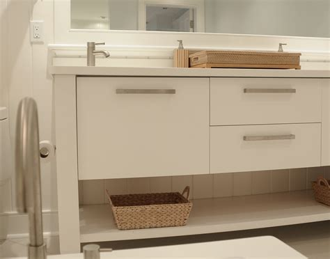 How To Clean Bathroom Cabinets by White Bathroom Cabinets Create Clean Lines Plain Fancy