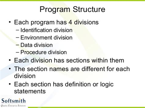 divisions and sections in cobol cobol basics 19 6 2010