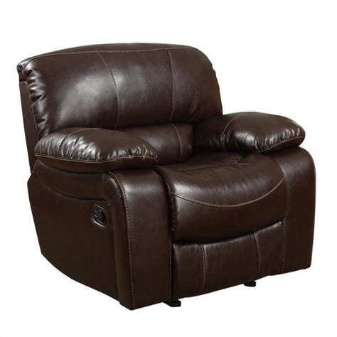 burgundy recliner chair global furniture usa leather glider recliner chair in