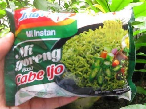 Solondok Rasa Cabe Ijo food review 155 indomi mi goreng rasa cabe ijo