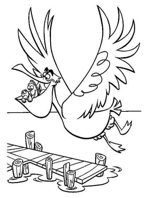 finding nemo coloring pages darla finding nemo nigel fly finding nemo coloring pages