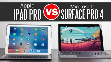 pro vs surface pro 4 ultimate tablet comparison