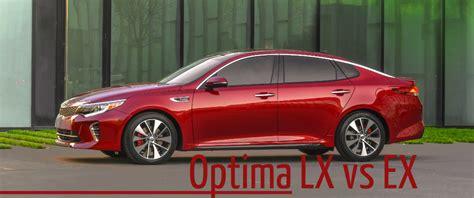 Kia Optima Trim Levels 2016 Kia Optima Lx Vs 2016 Kia Optima Ex