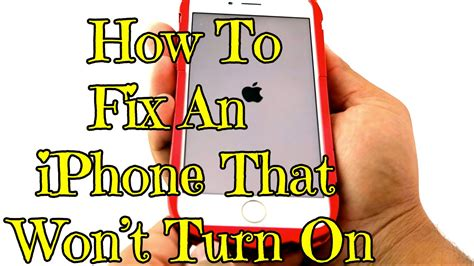 how to fix an iphone that won t turn on iphonehack